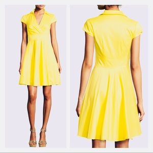 Betsey Johnson Bright Yellow Poplin Shirtdress